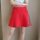 Striped Trim Knitted Skirt 1596