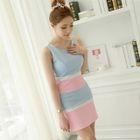 Color Block Sleeveless Mini Dress 1596