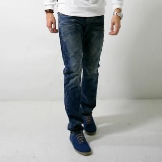 Picture of ISNOM Washed Jeans 1022417709 (ISNOM, Mens Denim, Korea)