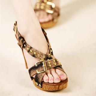 Buy Kvoll Studded Buckled Sandals 1023009549