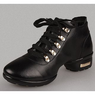 Genuine Leather Dance Ankle Boots