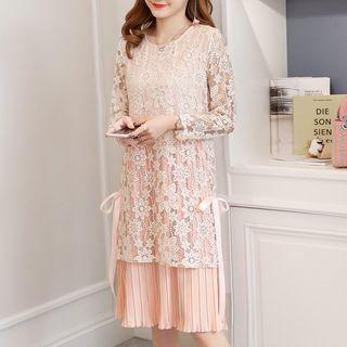 Long-sleeve   Maternity   Dress   Lace