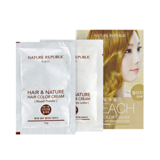 Nature Republic - Hair & Nature Hair Color Cream (Bleach): Powder 10g + Oxidizing Lotion 30g 2pcs 1050316781