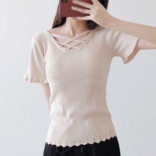V-Neck Short-Sleeve T-Shirt 1066543723