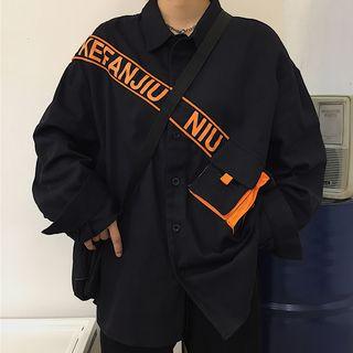 Image of Bag Detail Buttoned Jacket