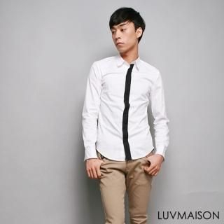 Buy LUVMAISON Contrast Trim Long-Sleeve Shirt 1022346310