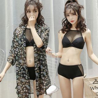 Set: Bikini + Printed Light Jacket 1057875227