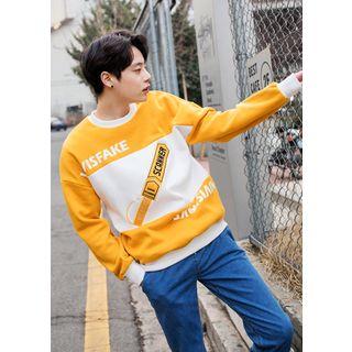 Color-Block Lettering Sweatshirt 1057436884