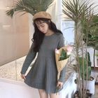 Long-Sleeved Mini Sweater Dress 1596