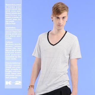 Buy K*facto.2y Striped V-Neck Tee 1021113669