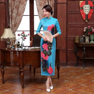 Floral Qipao 1055581077