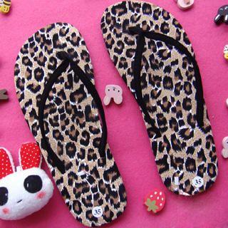 Buy SHY SHY Leopard Print Sandals 1022852945