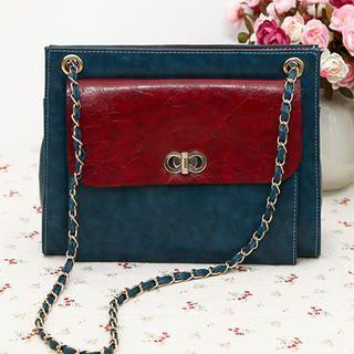 Chain-Strap Two-Way Handbag