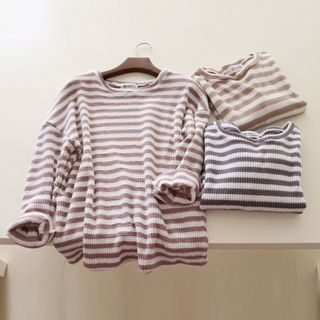 Striped Ribbed Sweater 1053860848