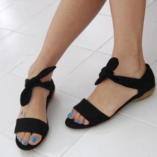 Buy COOLHADA Bow-Accent Canvas Sandals 1022934168