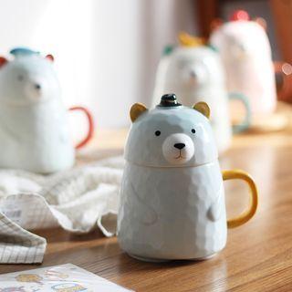 Bear Mug with Lid 1062390823