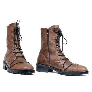 Picture of deepstyle Genuine Leather Boots 1022280636 (Boots, deepstyle Shoes, Korea Shoes, Mens Shoes, Mens Boots)