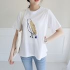 Sequined Printed T-Shirt 1596
