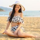 Set: Floral Bikini Top + Swim Skirt 1596