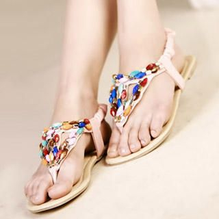 Buy Kvoll Jeweled Thong Sandals 1022979505