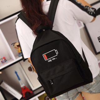 Battery Print Backpack