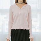 Frill Trim V-Neck Sweater 1596