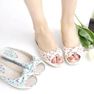Buy KAWO Bow Printed Mules 1022902608