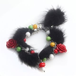 Black Snow Deer Bracelet One Size 1048756390