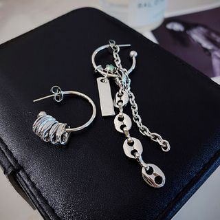 Non-matching Alloy Fringed Earring