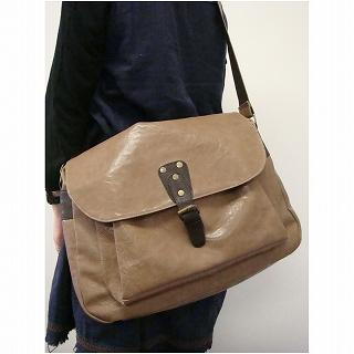 Picture of anello Patent Messenger Bag Beige - One Size 1013748754 (anello, Messenger Bags, Japan Bags, Womens Bags, Womens Messenger Bags)
