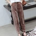 Pleuche Wide-Leg Pants 1596