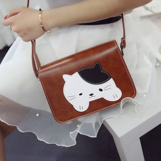Image of Cat Round Shoulder Bag