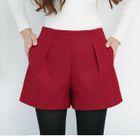 Pleated Woolen Shorts 1596