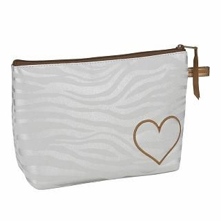 Buy ROOTOTE Heart Zebra Print Pouch [AVION DE PAPIER - Gloss-B] Light Gray – One Size 1022777261