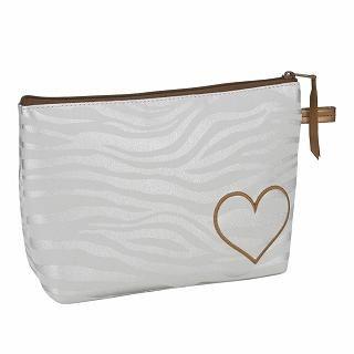Buy ROOTOTE Heart Zebra Print Pouch [AVION DE PAPIER - Gloss-B] Light Gray – One Size 1022777261