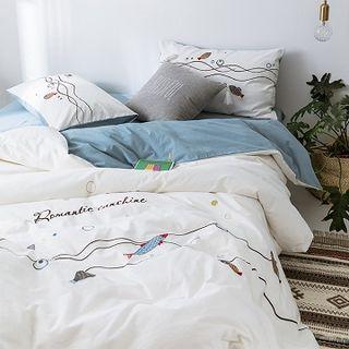 Embroider   Bedding   Bed   Set