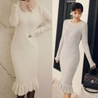 Long-Sleeved Sweater Dress 1596