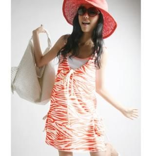 Buy Alicegohomea Hooded Zebra Print Dress 1022877627