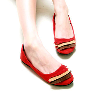 Buy Kvoll Petal Leather Flats 1022453438