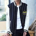 Striped Baseball Jacket 1596