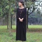 Long-Sleeve A-Line Maxi Dress 1596