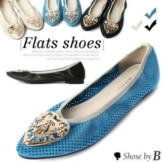Buy Shoes by B Metallic Brooch Accent Cut-Out Flats 1022850677