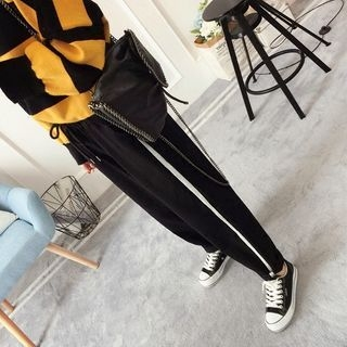 Contrast Trim Sweatpants 1062549349