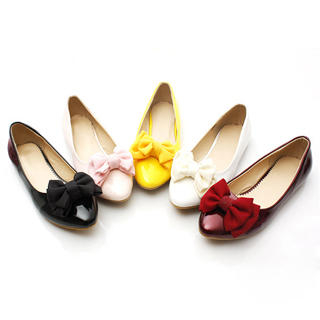 Picture of KAWO Bow Pointy Patent Flats 1022788160 (Flat Shoes, KAWO Shoes, China Shoes, Womens Shoes, Womens Flat Shoes)