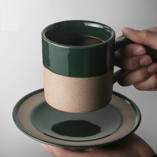 Ceramic Coffee Cup with Saucer 1065036742