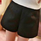 Chiffon Wide-leg Shorts 1596