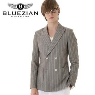 Picture of BLUEZIAN Double Breasted Blazer Gray - L 1022807772 (BLUEZIAN, Mens Jackets, Korea)