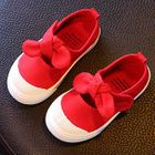 Kids Bow Accent Adhesive Strap Flats 1596