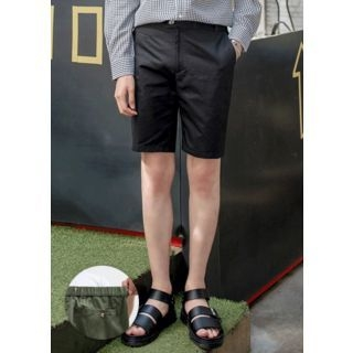 Zip-Front Cotton Shorts 1060687699