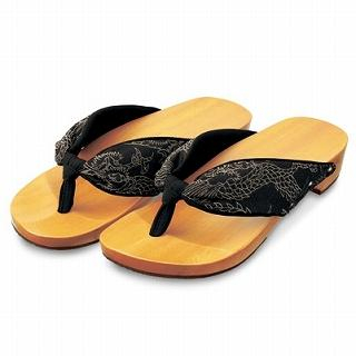 Picture of Mizutori Japanese Geta-monogatari Wooden Sandals 1022543485 (Sandals, Mizutori Shoes, Japan Shoes, Mens Shoes, Mens Sandals)